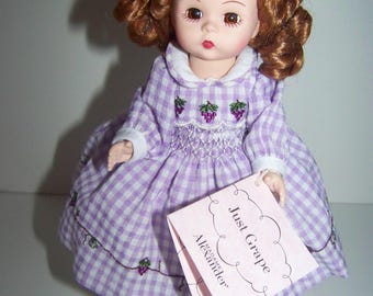 Just Grape Madame Alexander 8 in doll