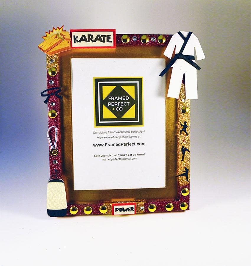 Regalo de marco de foto temática Karate y artes marciales para