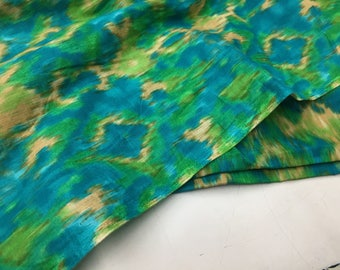 Indian Cotton Fabric, Ikat Style Print, Fabric by the yard, Quilting fabric, Sewing Fabric, Printed Ikat Print, Craft Fabric, Fashion Fabric
