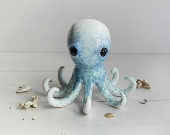 octopus, ring holder, jewerly holder, octopus jewerly, ceramic octopus, white holder, ceramic holder, bowl, marine, marine animals