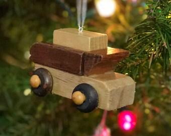 Wooden Toy Dump Truck Ornament