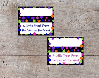 Classroom Bag Toppers, Star of the Week, School Treat Bag Toppers, Candy Bag Topper, Bag Topper, Treat Topper, Baggie Topper, Baggie Decor