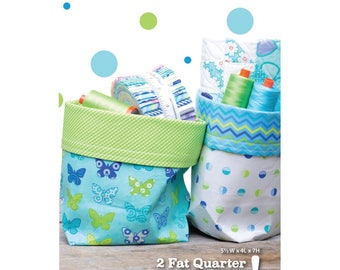 2 Fat Quarter Bucket Pattern by Me & My Sister Designs