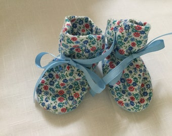 Baby Booties - Blue Ties