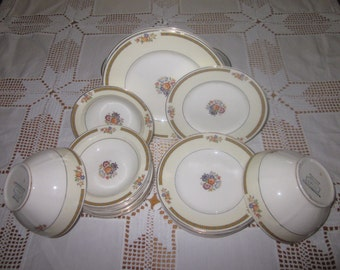 Antique W H Grindley Ivory Alton pattern 24 pieces #714650