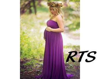 Ready to Ship Maternity Dress-Maternity Gown for Photo Shoot-Long Maternity Dress-Pregnancy Dress-Dress for Baby Shower-PHILOMENA-RTS