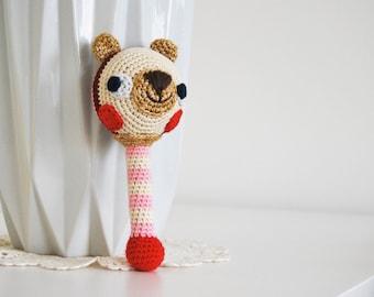 JingleBear- Crochet Rattle PDF Pattern - Amigurumi E-book