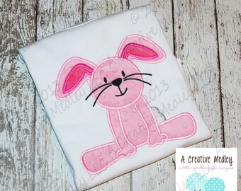 Sitting Bunny Applique EMBROIDERY DESIGN