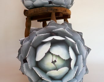 2-sided Agave Succulent pillow (Agave parryi var truncata)