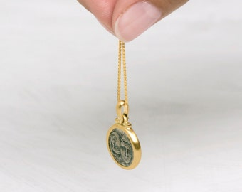 """Thick Gold Chain, Simple Men Chain, 18Kt Yellow Gold Chain, Gold Spiga Chain, Solid Gold Wheat Chain Necklace, 1mm 42cm Chain, 45cm, 19"""""""