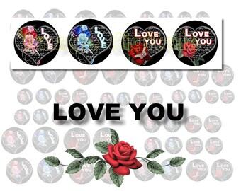 digital images to print rose heart love