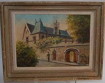 A. Franchet oil  paris MUSEE DE cluny 1940s