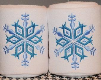 Snowflake Embroidered Polo Wraps