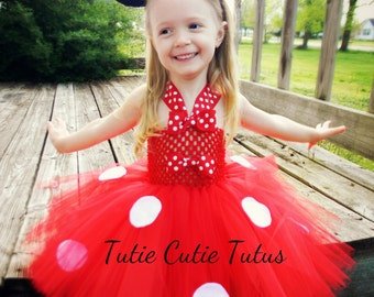 Red Minnie Mouse Tutu Dress Size Nb-5yrs
