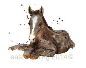 Horses, FOAL, horse lover gift, farmyard, horse painting, horse house, Old MacDonald
