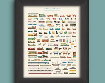 Museum-Quality Disneyland Attraction Vehicles Print