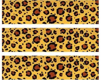 Leopard Print - Edible Image Cake Topper - 3 strips