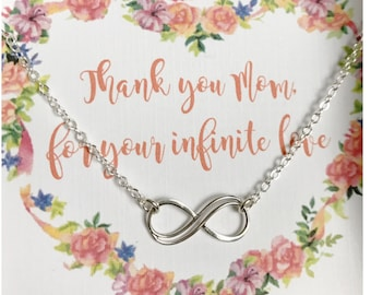 Sterling Silver Infinity Bracelet - Double Infinity Charm - Gift for Sister - Gift under 30 - Silver Bracelet - Sterling Silver Chain