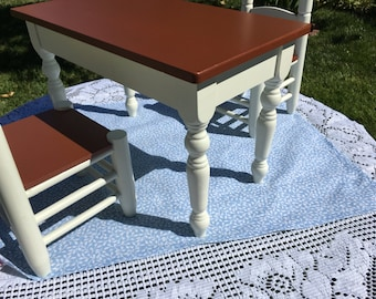 """18"""" Doll Flat Sheet Rug Tablecloth Light Blue Leaves Doll Bedding Picnic Blanket Pretend Playhouse Toy Kitchen Arvilla Ruby Doll House"""
