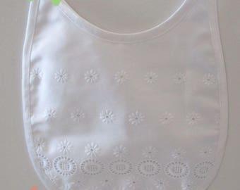 White cotton bib