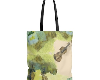 Dueling violins tote bag