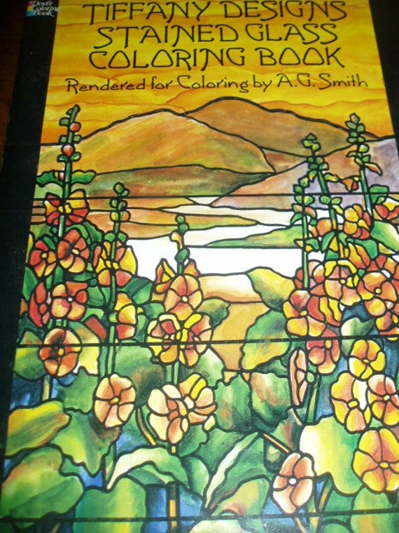 Tiffany Designs Stained Glass Coloring Book A. G. Smith 1991