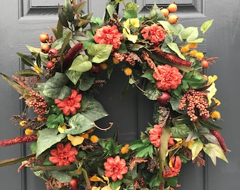 Fall Wreaths, Fall Door Wreath, Fall Door Decor, Fall Decorating, Thanksgiving Wreaths, Autumn Decor, Front Door Wreaths, Wreaths for Fall