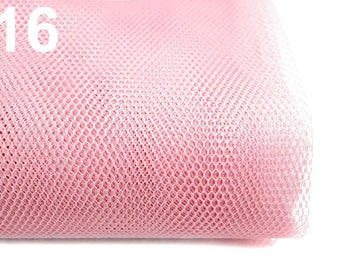 Netting Tulle Fabric 160 cm 100% polyamide - Light pink 16 / 1 m