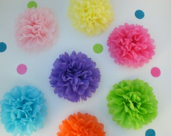 40  Tissue Paper Flowers (ANY COLORS), birthday party decor, baby shower decoration, wedding decor, garden party, tea party