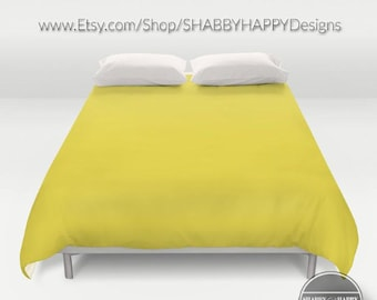 Solid Color BANANA yellow /Choice of Duvet Cover or Comforter/Bedding Modern Minimalist Basic Art /Sizes Twin, XL Twin, Full, Queen, & King