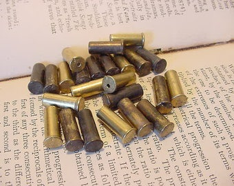 2 Dozen Solid Brass 22 Caliber Bullet Casing/Shells for Jewelry-Altered Art-Collage-Mixed Media-Crafts