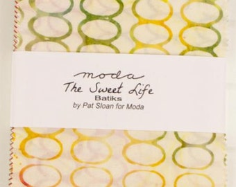 The Sweet Life Batiks Charm Pack by Pat Sloan for Moda