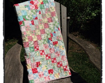 Shabby Chic Vintage Quilt (#307)