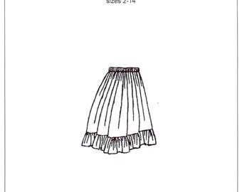 Girls Ruffle Skirt Sewing Pattern - by The King's Daughters - #1006