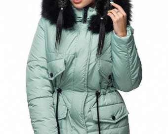 Coat parka with Arctic Fox on the hood