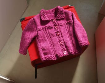 Spring jacket hand knitted size 12 months @ Studio fairy finger
