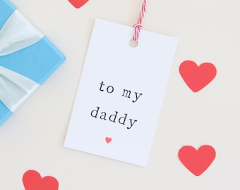 Daddy Gift Tag, Dad Gift Tag, Parents Gift Tag, Gift tag for Daddy, Dad present tag, Daddy Present Tag, Christmas Tag for Daddy, Dad Tags