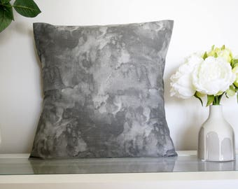 Grey Concrete Decorative Cushion Cover