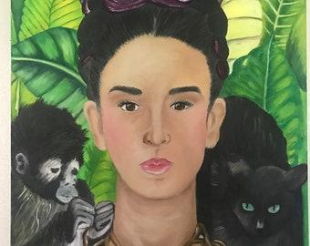 Custom Self-Portrait Frida Kahlo Inspired