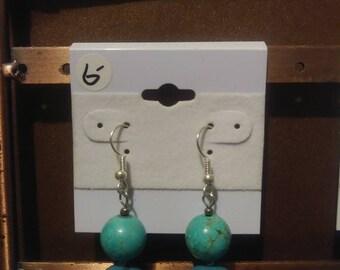 6 buck earrings, 3 styles