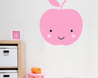 Apple Nursery Wall Decals, Fruit Baby Room Wall Art, Sweet Apple Vinyl Sticker Home Decor, Australian made
