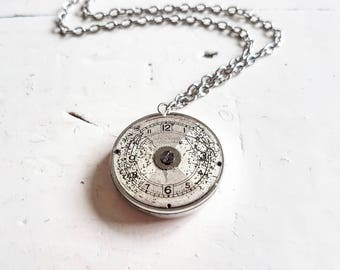 Watch Dial Necklace // Watch Part Necklace // Steampunk Jewelry // Steampunk Necklace