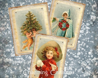 Charming Christmas Images  Printable Instant Download