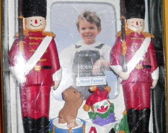 Toy Soldiers Holson Hand Painted Photo Frame NIB, 1997