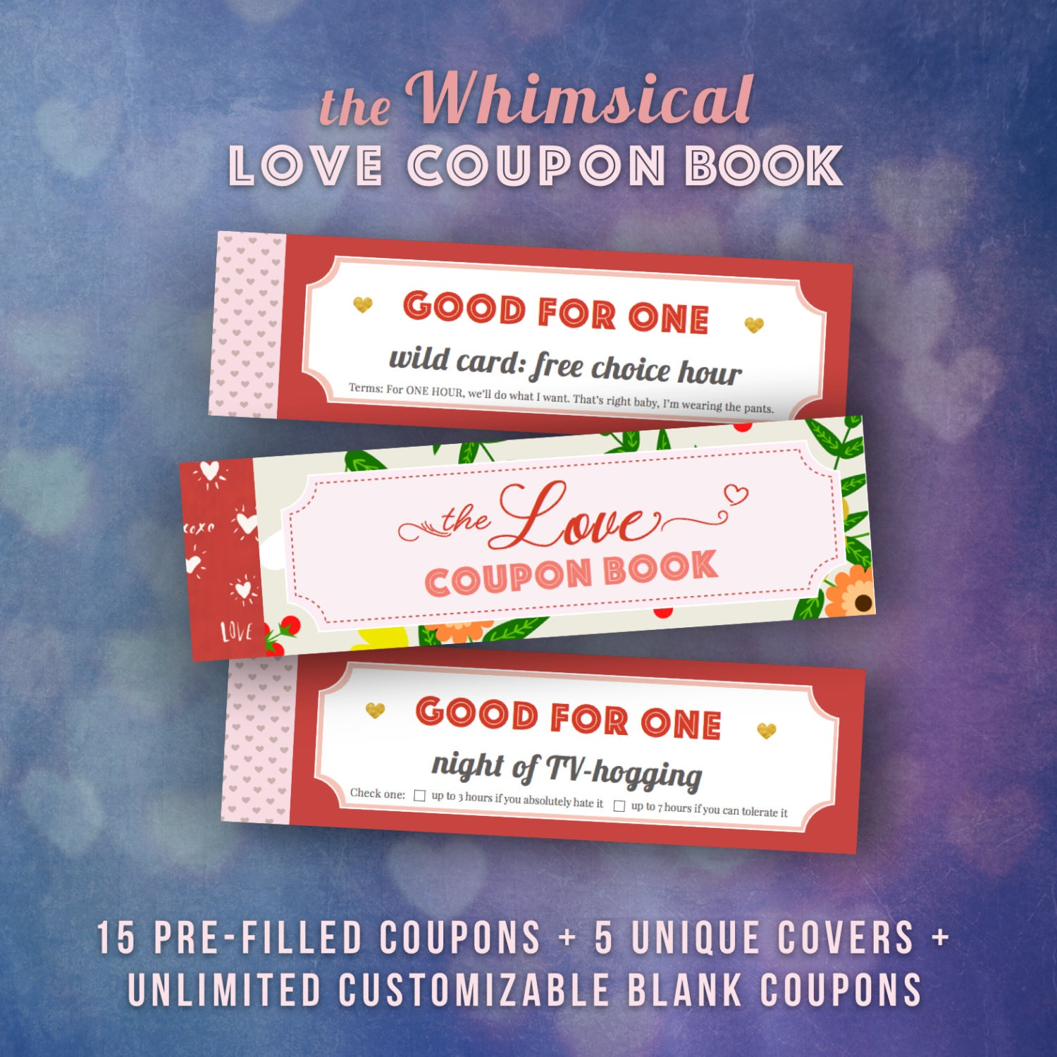 Love Coupons Book for Him Valentines Day Gift Ideas Husband
