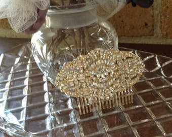 Madison; Art Deco inspired hair comb, hair bling, bridal accessories, hair comb, decorative comb