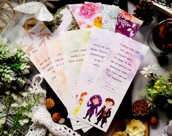 Set of 10 bookmarks