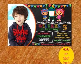 Team Umizoomi Birthday Invitation, Team Umizoomi Invitation, Team Umizoomi Birthday, Umizoomi Party, Umizoomi Printable, Instant Download