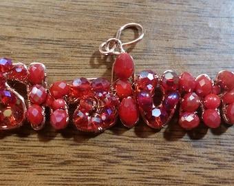 Ruby Red Shalom charm