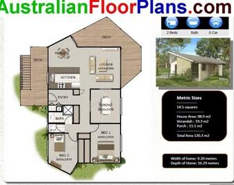 120 M2 | 1291 Sq Foot | 2 Bedroom House Plan | 2 Bed Granny Flat